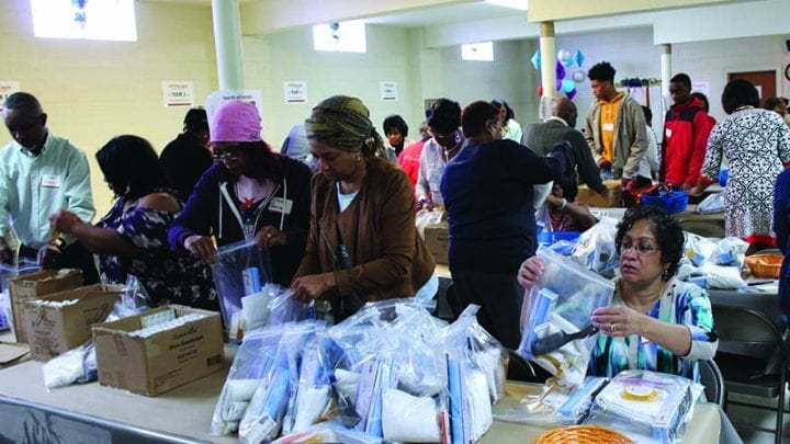 Church compiles hygiene kits to aid in disaster relief
