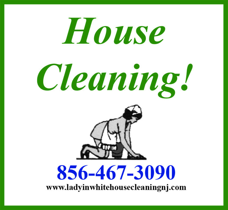 Lady In White House Cleaning