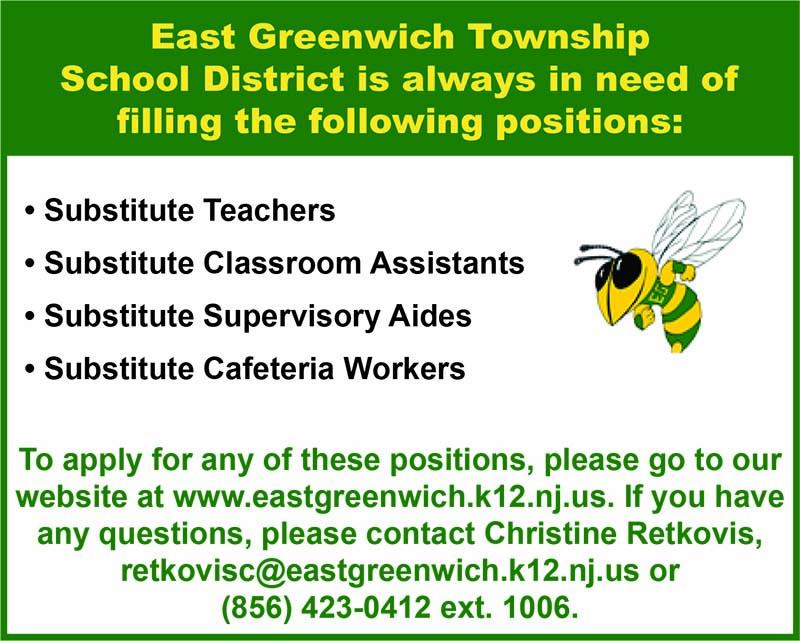East Greenwich School Jobs