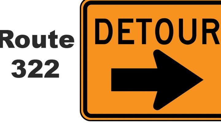 New Route 322 Detour begins April 12