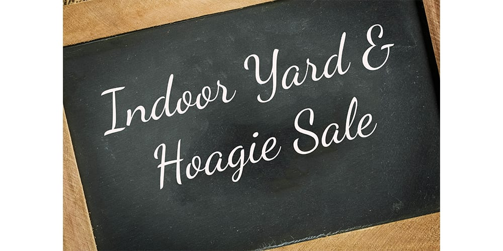 ZION INDOOR YARD SALE, APRIL 6