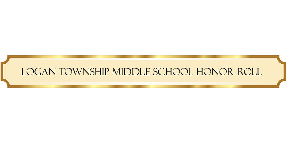 Logan Middle School Students Named to Honor Roll for Second Marking Period