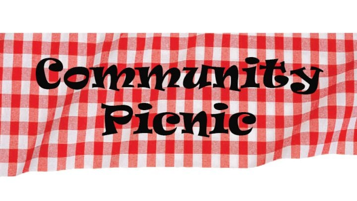 COMMUNITY PICNIC, AUGUST 3