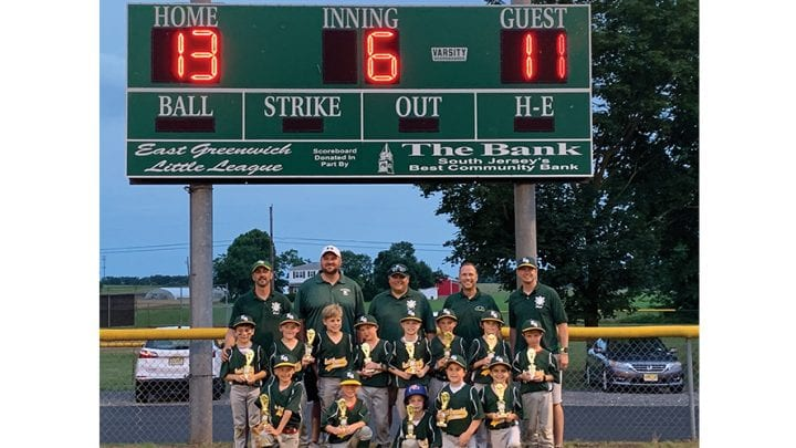 East Greenwich All Stars Wins Coach Pitch Tournament