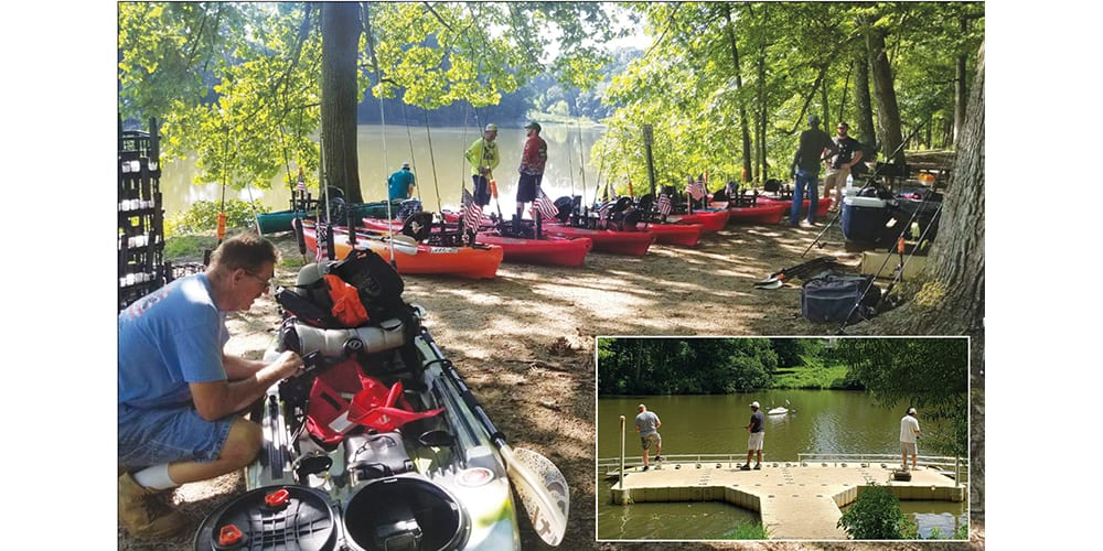 Kayaking & fishing gives a chance for relief & healing