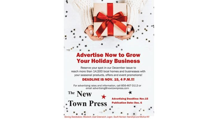 Advertising Deadline for December Issue is Nov. 15!