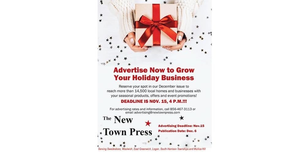Advertising Deadline for December Issue is Nov. 15!