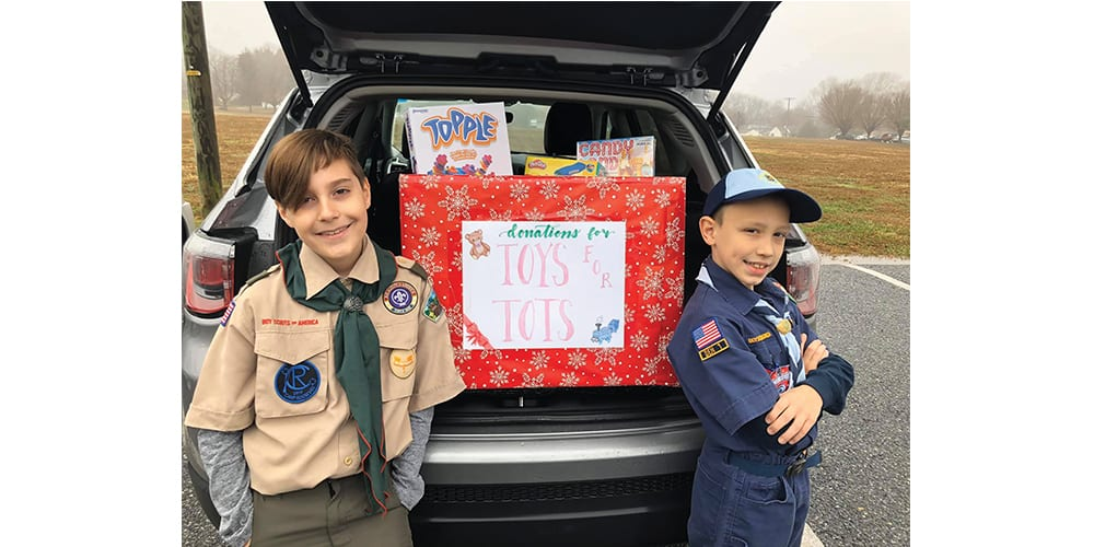 Scouts Organize Successful Toys For Tots Toy Drive