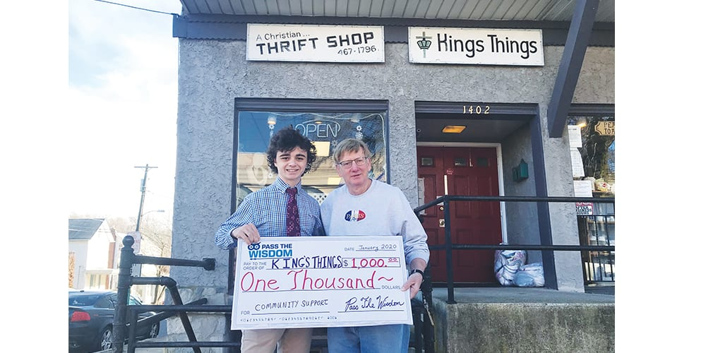 Pass The Wisdom Makes $1,000 Donation To King's Things