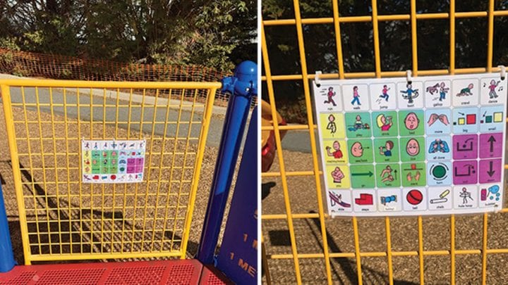 Clifford School installs picture communication boards to make recess more inclusive