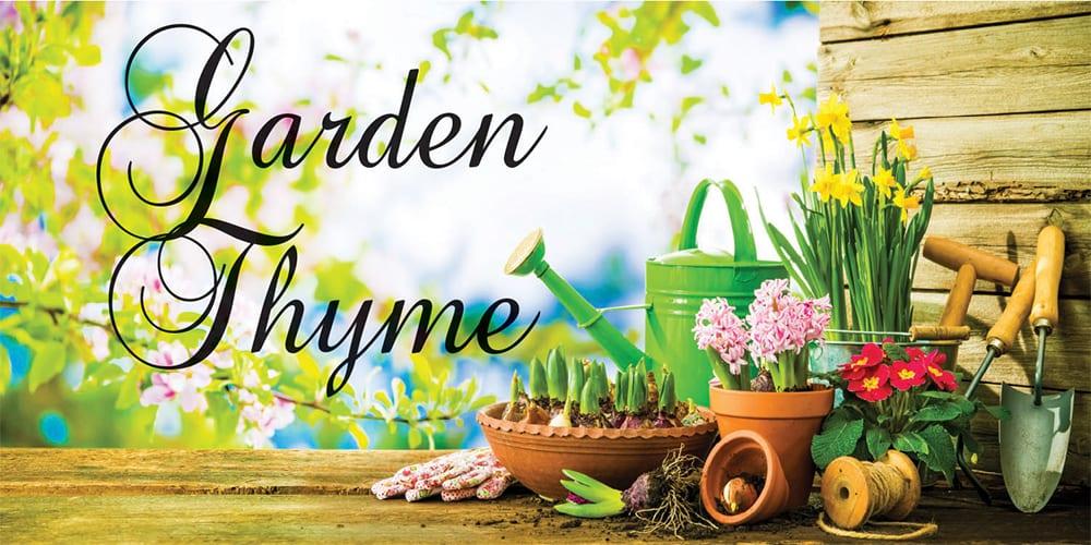 garden thyme template